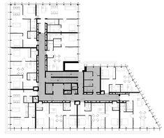 Residential Building Plan, Building Plans, Apartment Layout, Apartment Design, Architecture Plan, Residential Architecture, Flat Plan, Apartment Floor Plans, Floor Layout