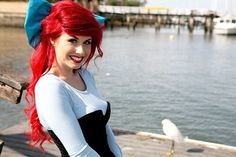 Traci Hines [as Ariel feat. Scuttle] (Cosplay by TraciHinesMusic @Facebook) #TheLittleMermaid