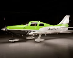 The very curvy Cessna Corvalis TTX. Fast like a Lancair & certified.