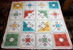 Victorian Lattice Square pattern by Destany Wymore. free pattern via Ravelry.