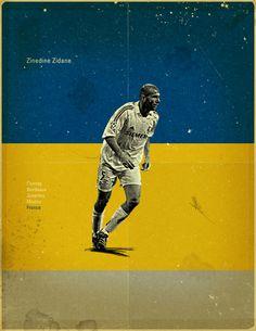 Famous Footballers 3 by Jon Rogers, via Behance #soccer #poster