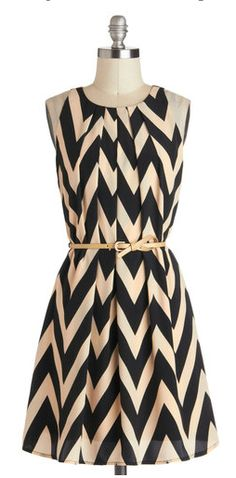 Chic chevron- pair with a black blazer for an office appropriate touch