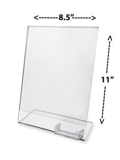 Slant Back Ad Frame with attached Card Holder Ad Display Stand Counter x Acrylic Frames, Acrylic Display, Business Card Holders, Business Cards, Sign Display, Store Signs, Marketing Ideas, Business Marketing, Ads