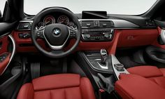 Red interior optional on BMW 4-series convertible.