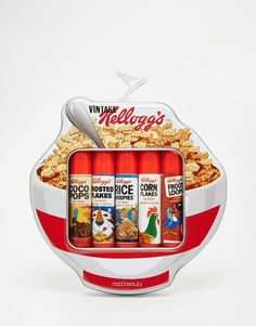 Kellogg's+Cereal+Tin+Lip+Balm+Set+x+5+Lip+Balms