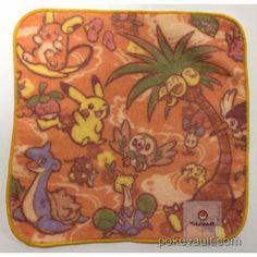 Pokemon Center 2017 Alola Festival Campaign Lapras Alola Exeggutor Raichu & Friends Mini Hand Towel (Version #1)