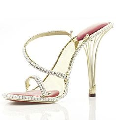 World's most expensive Stilletto..Diamonds and gold
