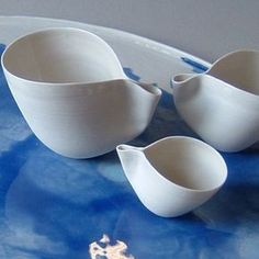 ceramics...perfectly imperfect Italian hand-made porcelain. Potomak Studio