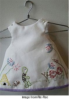 Embroidered Baby girl dress...so sweet :)