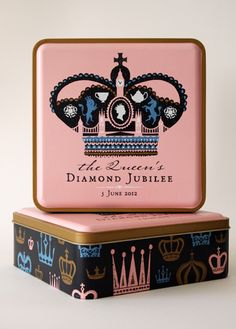 Limited edition shortbread tin to celebrate the Queen's by Debbie Powel