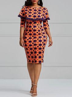 Color Block Geometric Print Women's Bodycon Dress : Tidebuy.com