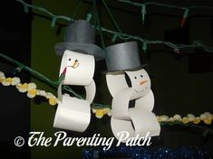 Paper Chain Snowman Craft | The Parenting Patch