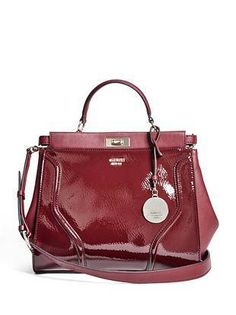 GEORGIE PATENT SATCHEL - Bag Lady Couture