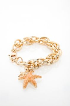 Lucky Starfish Chain Bracelet