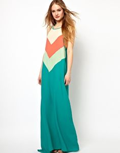 Enlarge Jarlo Chevron Striped Maxi Dress