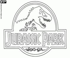 Free Original Logo In English Of Jurassic Park Coloring And Printable Page