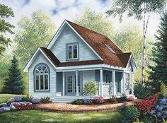 This 2 story Cottage features 1068 sq feet. Call us at 866-214-2242 to talk to a House Plan Specialist about your future dream home!