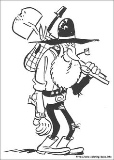 Lucky Luke coloring picture