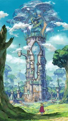 Schloss Ni No Kuni 2 Gibli Ninokuni nino Turn Palace Manor C . - Schloss Ni No Kuni 2 Gibli Ninokuni nino Turn Palace Manor Castle Wolken Clouds Fantasy City, Fantasy Castle, Fantasy Places, Fantasy Kunst, Fantasy World, Fantasy House, Concept Art Landscape, Fantasy Art Landscapes, Fantasy Landscape
