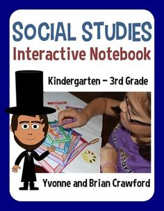 Interactive Social Studies Notebook for Kindergarten through Third Grade - 103 pages! $