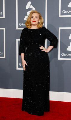Adele in Giorgio Armani at the 2012 Grammys
