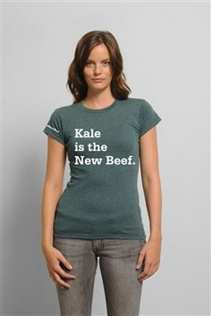 Kale is the new beef! Wearing is Caring!  Created by @Douglas McNish on @Style!