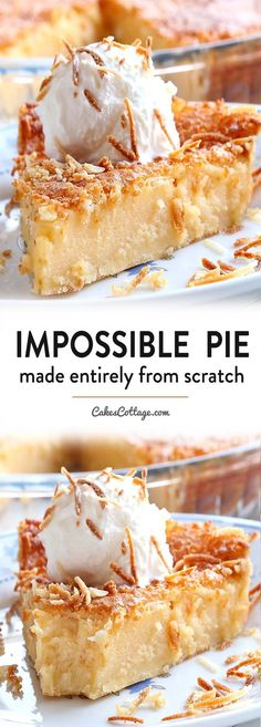 Impossible Pie is the easiest pie you will ever bake, it makes its own crust and two delicious layers while baking. Impossible Pie is the easiest pie you will ever bake, it makes its own crust and two delicious layers while baking. Easy Desserts, Delicious Desserts, Yummy Food, Easy Pie Recipes, Cooking Recipes, Top Recipes, Recipies, Bisquick Recipes, Pancake Recipes