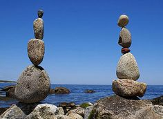 Rock balancing - I love the idea of someone waking up one morning and deciding to go to the beach and balance some rocks.