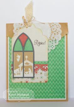 Rejoice! Gift Bag & Tag by Kerri Michaud #GiftGiving, #Chirstmas, #Tags