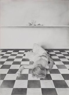woman on the floor