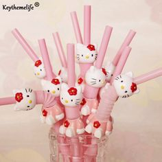 Keythemelife Hello Kitty Drink Decor Environmental Reusable Plastic Drinking Straw 5PCS/SET Kitchen Gadgets Bar Tools D3-in Drinking Straws from Home & Garden on Aliexpress.com | Alibaba Group