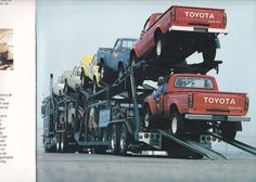 Heres the finished first year 4x4's off to the Dealerships in 1979