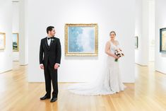 NCMA Raleigh Wedding with Winter Dresses, Colors and Decor Groom and Bride in Wedding Dress North Carolina Museum of Art NCMA Exhibit Raleigh Wedding Venue Duffield. Groomsmen Looks, Groom And Groomsmen Style, Groomsmen Fashion, Winter Wedding Receptions, Wedding Reception Design, Reception Ideas, Wedding Venues, Science Wedding, Bridal Hair And Makeup