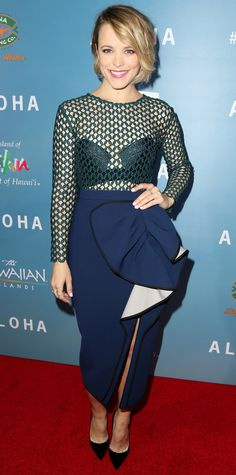 """Look of the Day - May 28, 2015 - Special Screening Of Columbia Pictures' """"ALOHA"""" - Arrivals from #InStyle"""