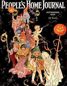People's Home Journal--Halloween Parade--Vintage Halloween Magazine Cover