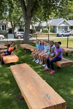 Not every student learns best while sitting at a desk. So Logan Elementary designed this space which has eight benches built from salvaged wood from the August 2020 derecho storm. It's designed as a spot for students to gather as a class, read individually or just relax. The project includes benches, new landscaping, and signage that promotes positivity, diversity and school spirit. Hooray for wood benches! 🙆♂️🎉 Click to shop ours #woodbenches #thebenchmaster Wood Benches, Built In Bench, Salvaged Wood, Just Relax, School Spirit, Student Learning, Picnic Table, Diversity, Logan
