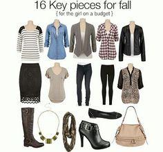 16 key pieces to wardrobe