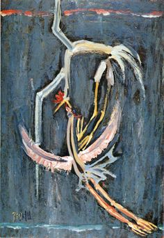 Lee joong sub 부부- 이중섭, 1953, 종이에 유채, 51.5*35.5cm