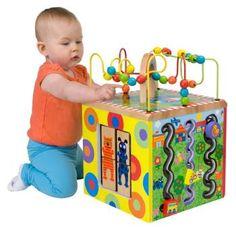Amazon.com: ALEX® Toys - Alex Jr. My Busy Town -Baby Wooden Developmental Toy 4W: Toys & Games