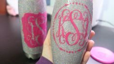 This is a tutorial on how to do the glitter stainless steel tumblers with loose glitter and epoxy as well as a vinyl decal. Products I used: Paint brushes Blue painters tape Baby wipes Disposable cups/spoons Vinyl decal- Oracal 651 Epoxy: .... Diy,