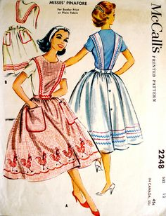 vintage aprons. All the girls were required to make one of these in Home Economics class!
