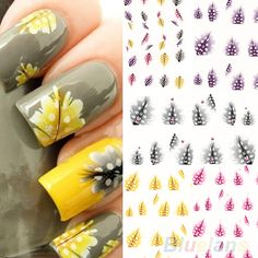 1 Sheet  New fashion creative Feather 3D Nail Art Water Decal Sticker Fashion Tips Decoration 01RI 2O6H