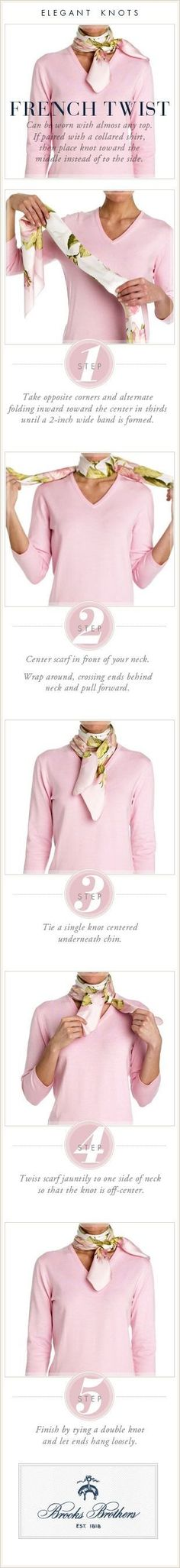 cool French Twist for scarves.And,if the scarf is Hermes,you need to know how to say ... by www.danafashiontr...
