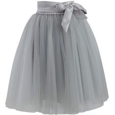 Chicwish Amore Tulle Skirt in Grey