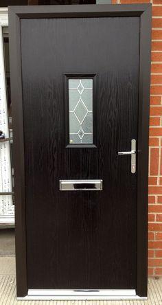 Image result for black composite door