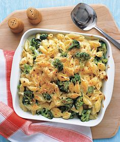 Cheesy Baked Shells and Broccoli #vegetarian #sidedish #entree