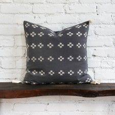Alegria Home Scottie Charcoal Cross Pillow
