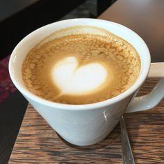 Coffee cappuccino heart