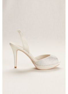 Sami's Shoes: Platform Sling Back Crystal Peep Toe High Heel JESSA, $69.95