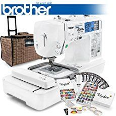 Art and Craft Supply: Brother Project Runway Computerized Sewing Embroidery Machine w/ USB Port and Grand Slam Package Includes 63 Embroidery Threads with Snap Spools + Prewound Bobbins + Cap Hoop + Stabilizer + Embroidery Designs + Scissors Brother Embroidery Machine, Machine Embroidery Projects, Embroidery Software, Learn Embroidery, Machine Embroidery Applique, Free Machine Embroidery Designs, Vintage Embroidery, Embroidery Machines, Embroidery Ideas